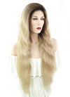 "26"" Long Curly Blonde With Brown Roots Full Lace Remy Natural Hair Wig HH079 - wifhair"