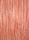 "20"" Long Straight Peach Pink Lace Front Remy Natural Hair Wig HH085"
