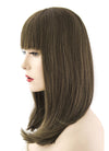 "12"" Long Straight Bob Greenish Brown Lace Front Remy Natural Hair Wig HH097"