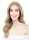 "16"" Long Wavy Dirty Blonde Lace Front Remy Natural Hair Wig HH108 - wifhair"