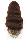 "20"" Long Curly Vibrant Auburn Lace Front Remy Natural Hair Wig HH109"