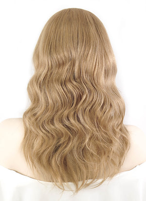 "12"" Medium Curly Light Brown Lace Front Remy Natural Hair Wig HH130 - wifhair"