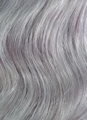 "16"" Medium Curly Light Grey Lace Front Remy Natural Hair Wig HH132 - wifhair"