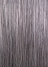 "18"" Long Straight Grey With Dark Brown Roots Lace Front Remy Natural Hair Wig HH143 - wifhair"