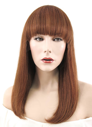 "12""  Long Straight Auburn Lace Front Remy Natural Hair Wig HH145 - wifhair"