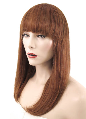 "12"" Short Straight Auburn Lace Front Remy Natural Hair Wig HH145 - wifhair"