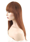 "12"" Medium Straight Bob Auburn Lace Front Remy Natural Hair Wig HH145 - wifhair"