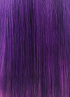 "18"" Long Straight Mixed Purple Lace Front Virgin Natural Hair Wig HH155 - wifhair"