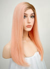 "16"" Long Straight Pink With Brown Roots Glueless Lace Brazilian Natural Hair Wig HL001 - wifhair"