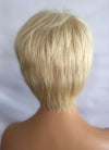 "8"" Short Layer Bleach Blonde Lace Front Remy Natural Hair Wig HP004 - wifhair"