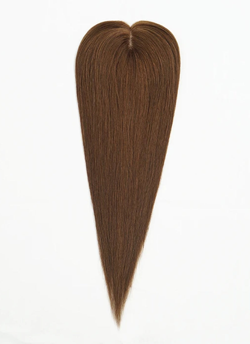 "5"" x 5"" Straight Virgin Hair Silk Top Base Women Topper HT009"