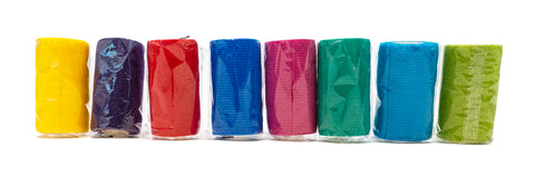 ELASTIC BANDAGES (10cm x 4.5m) - ASSORTED COLOURS AVAILABLE