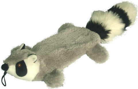 "FLAT BUDDIES RACCOON 16"" DOG TOY"