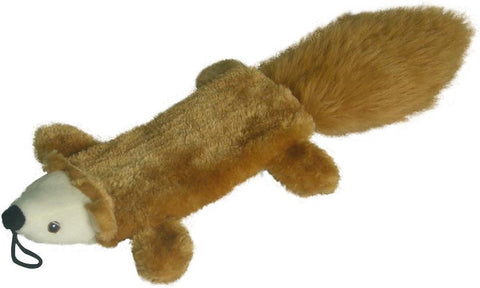 "FLAT BUDDIES SQUIRREL 16"" DOG TOY"