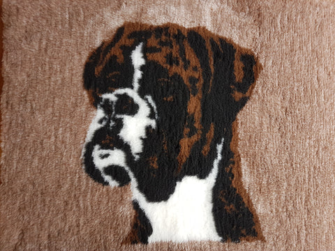 VET BED - RUBBER BACKED - BOXER DESIGN - approx. 100cm x 75cm