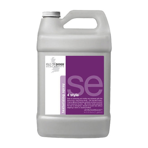 ISLE OF DOGS SALON ELEMENTS 4 STYLE TEXTURISING SPRAY  1 GALLON
