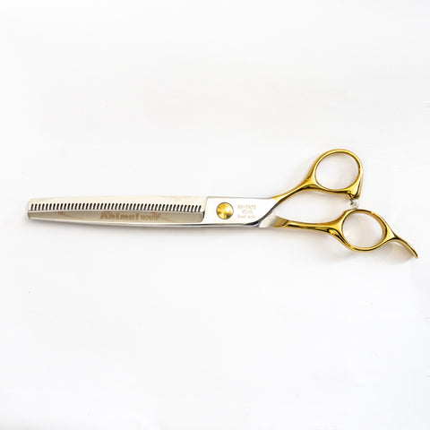 "ANIMAL HOUSE PROFESSIONAL SERIES CHROME SHEAR - 7"" SINGLE SIDED 47 TOOTH THINNING (BLENDER) SHEAR"
