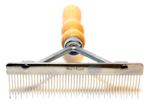 "ANIMAL HOUSE 5"" MOULTING RAKE MULTI-LENGTH TEETH- MADE IN ENGLAND"
