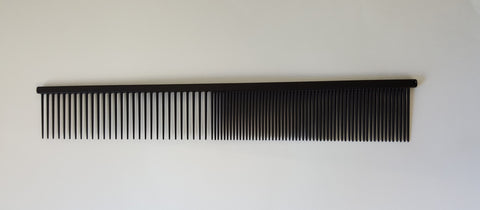 "ANIMAL HOUSE 10"" TEFLON ANTI-STAT FINE/COARSE COMB  - MADE IN ENGLAND"