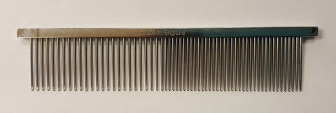 "ANIMAL HOUSE 4.5"" FACE COMB - LONG TOOTH - FINE/MEDIUM -MADE IN ENGLAND"