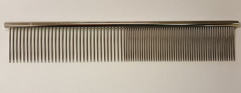 "ANIMAL HOUSE 7.5"" ROUND BACK FINE/MEDIUM COMB - MADE IN ENGLAND"