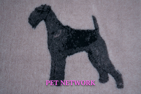 VET BED - RUBBER BACKED - AIREDALE DESIGN - approx. 100cm x 75cm