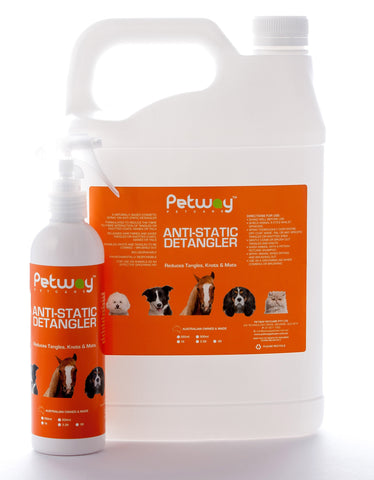 PETWAY PETCARE ANTI-STATIC DETANGLER - ASSORTED SIZES AVAILABLE (WH)