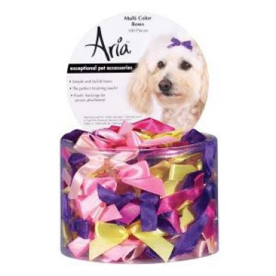 ARIA MULTI COLOURED BOW CANISTER 3/8INCH 100 CANISTER