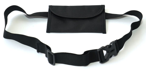 ANIMAL HOUSE BAIT BAG ON ADJUSTABLE WAISTBAND - BLACK (CURVED EDGE)