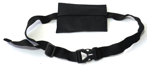 ANIMAL HOUSE BAIT BAG ON ADJUSTABLE WAISTBAND - BLACK (STRAIGHT EDGE)