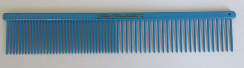 "CHRIS CHRISTENSEN COLOURED BUTTERCOMB 7 1/2"" FINE/COARSE - BLUE"