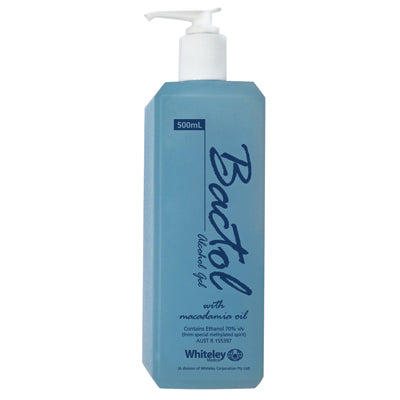 BACTOL ALCOHOL (70%) HAND GEL WITH MACADAMIA OIL 500ml