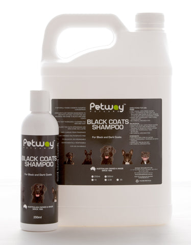 PETWAY PETCARE BLACK COATS SHAMPOO CONCENTRATE - ASSORTED SIZES AVAILABLE (WH)
