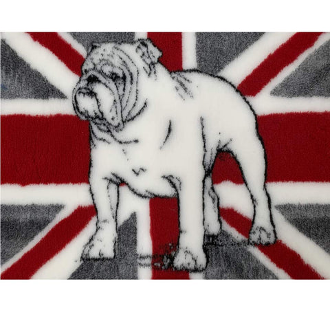 VET BED - RUBBER BACKED - BRITISH BULLDOG Red/Charcoal - approx 75cm x 100cm