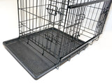 ANIMAL HOUSE COLLAPSIBLE CRATES WITH 2 DOORS (NEW SIDE SLIDING DOOR) FOR DOGS AND CATS - VARIOUS SIZES AVAILABLE