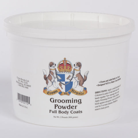 CROWN ROYALE GROOMING POWDER FULL BODY COATS (908GMS) 2 POUNDS