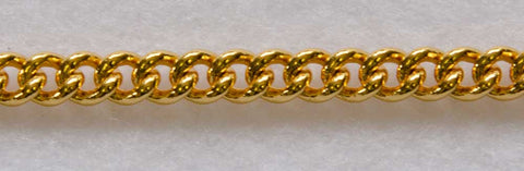 "JEWELLERS LINK 1.2MM CHAIN 10"" (25CM) GOLD"