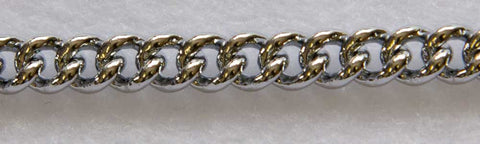 "JEWELLERS LINK 1.2MM CHAIN 10"" (25CM) CHROME"