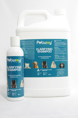 PETWAY PETCARE CLARIFYING SHAMPOO - VARIOUS SIZES AVAILABLE (WH)