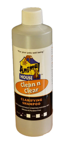 ANIMAL HOUSE CLEAN N CLEAR CLARIFYING CONCENTRATE SHAMPOO FOR DOGS AND CATS - ASSORTED SIZES