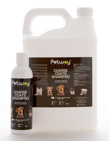 PETWAY PETCARE COARSE COATS SHAMPOO - AVAILABLE IN TWO SIZES (WH)