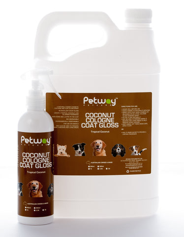 PETWAY PETCARE COCONUT COLOGNE COAT GLOSS - ASSORTED SIZES AVAILABLE (WH)