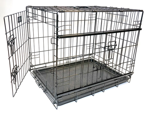 ANIMAL HOUSE COLLAPSIBLE CRATE WITH 2 DOORS (NEW SIDE SLIDING DOOR) FOR DOGS AND CATS - VARIOUS SIZES AVAILABLE