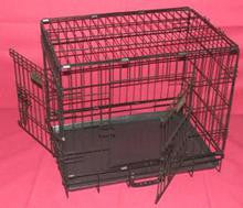 "COLLAPSIBLE CRATE WITH 2 DOORS 42"" - EXTRA HEAVY DUTY GAUGE"