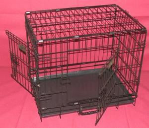 "COLLAPSIBLE CRATE WITH 2 DOORS 24"" - EXTRA HEAVY DUTY GAUGE"