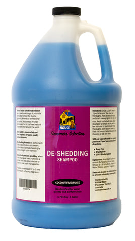 ANIMAL HOUSE GROOMERS SELECTION DE-SHEDDING SHAMPOO for Dogs and Cats - 3.79 litres (1 Gallon)