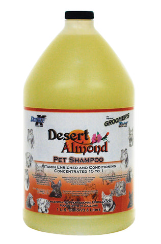 DOUBLE K GROOMER'S EDGE DESERT ALMOND PET SHAMPOO for Dogs and Cats - 3.8 litres (1 Gallon)