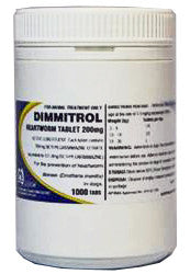 FIDOS DIMMITROL DAILY HEARTWORM 200MG - 1000