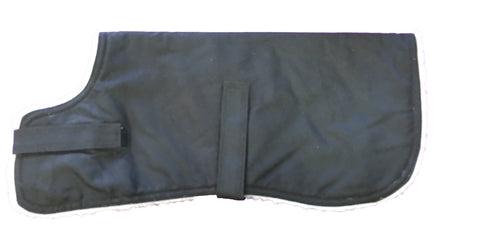DOG COAT -  OILSKIN - SHERPA LINED (Sizes 25cm - 75cm)