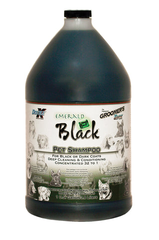 DOUBLE K GROOMER'S EDGE EMERALD BLACK SHAMPOO for Dogs and Cats (available in 16oz and 3.8 litres)
